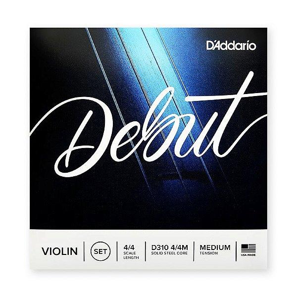 Encordoamento para Violino 4/4 D`addario Debut D310 4/4M