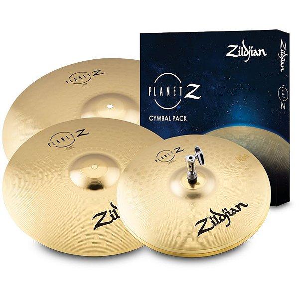 "Kit Pratos Zildjian Planet Z ZP4PK Chimbal 14"" Ataque 16"" Condução 20"""