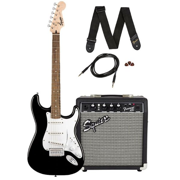 Guitarra Fender Squier Stratocaster Frontman 10G Black