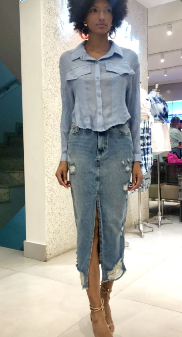 Camisa Over Cropped