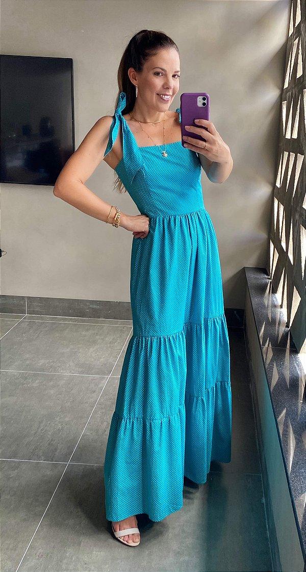 Vestido Longo Poazinhos