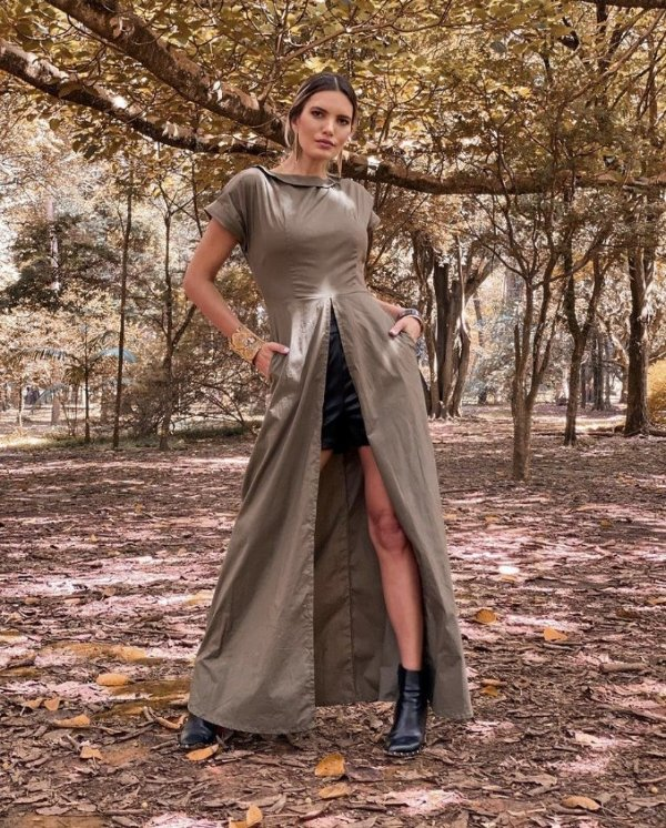 Blusa Marisol de Tricoline Longa