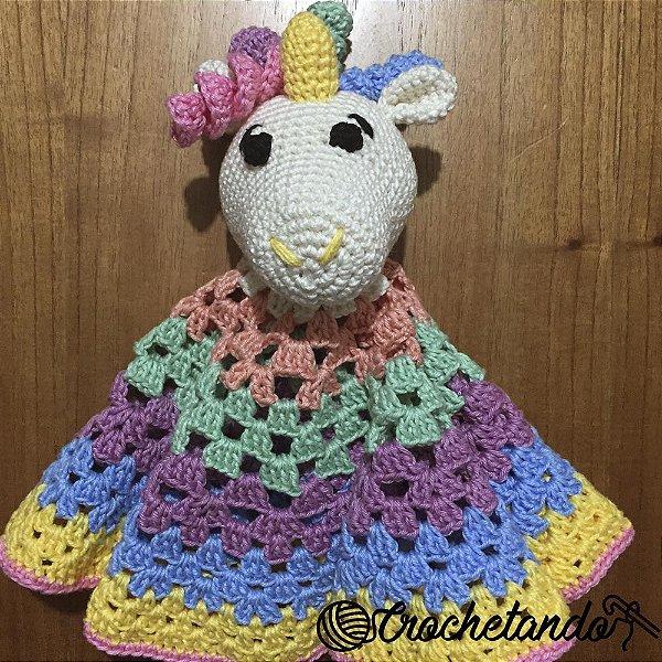 Unicórnio Naninha - Crochê