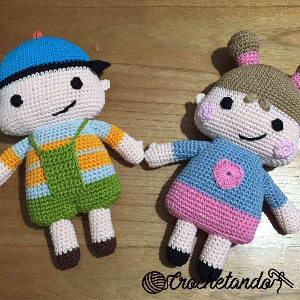Bonecos Ben e Ana