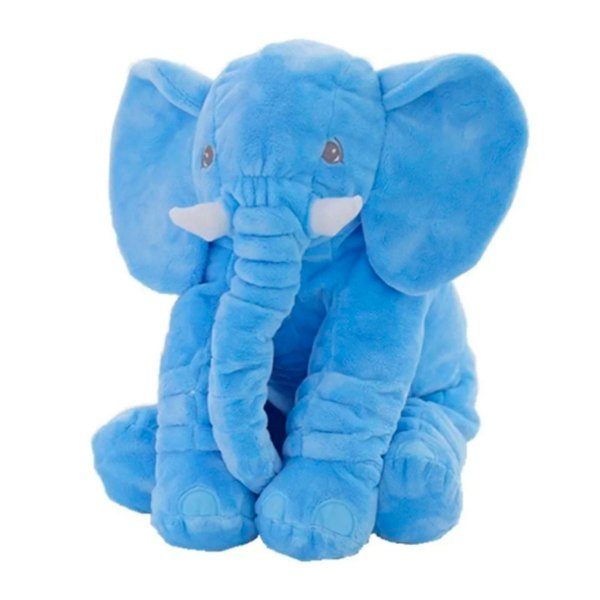 Almofada Bebe Elefante Gigante Azul Turquesa Buba