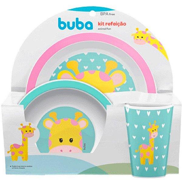Kit Refeição Animal Fun Buba Girafinha