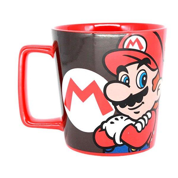 Caneca De Cerâmica Super Mario Mushroom 400ml