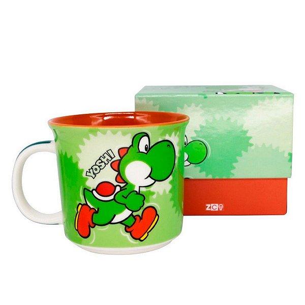 Caneca De Cerâmica Yoshi Super Mario Bros 350 ML