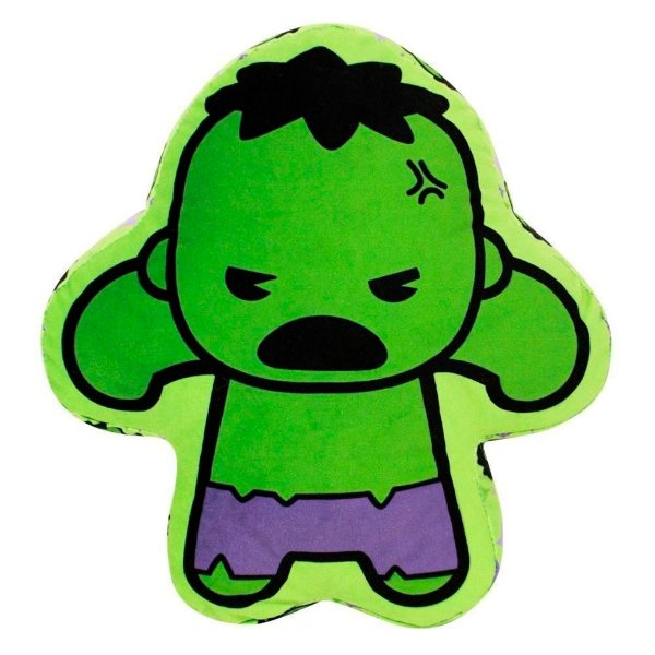 Almofada Formato Super Herói Hulk Da Marvel