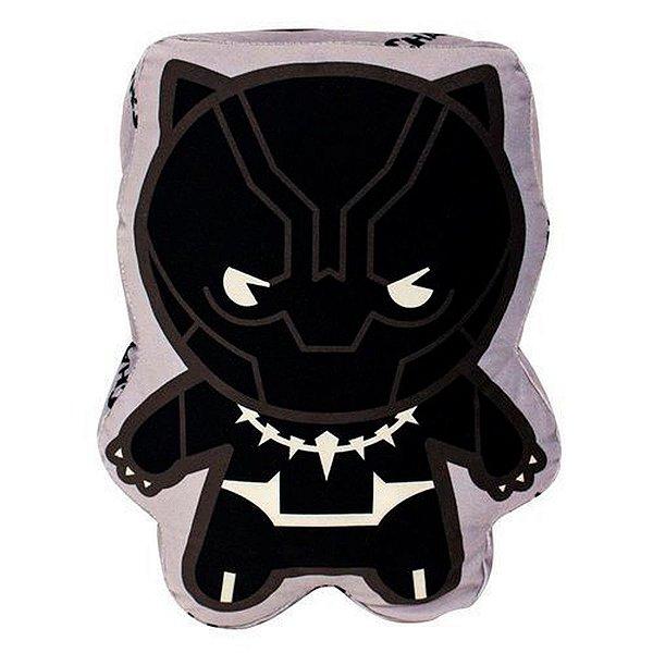 Almofada 3D Pantera Negra Aveludada Oficial Marvel