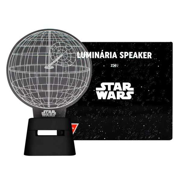 Luminária Com Speaker Globo Da Morte Star Wars