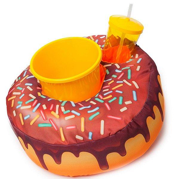 Almofada Porta Pipoca Donuts Amarelo