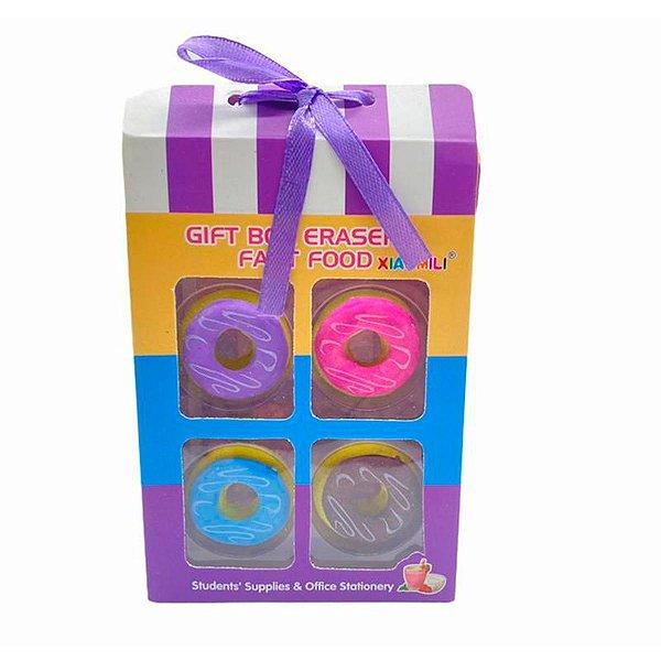 Kit 4 Borrachinhas Com Formato De Donuts