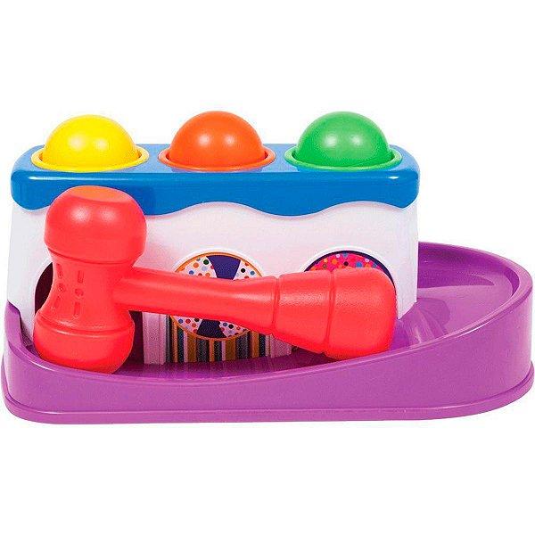 Brinquedo de Encaixar Infantil Bate Bolinha Colorido