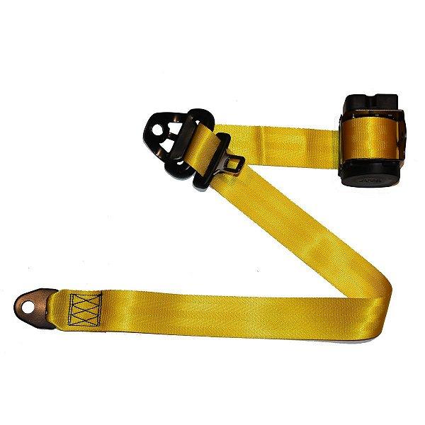 Par de Cintos de Segurança Retrátil 3 Pontos Amarelo