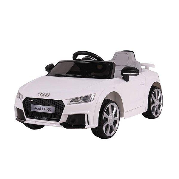 Mini Veiculo Elétrico Audi TT RS Branco 12v
