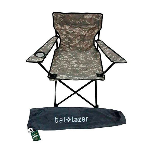 Cadeira De Praia e Camping  Araguaia Conforto CAMUFLADA