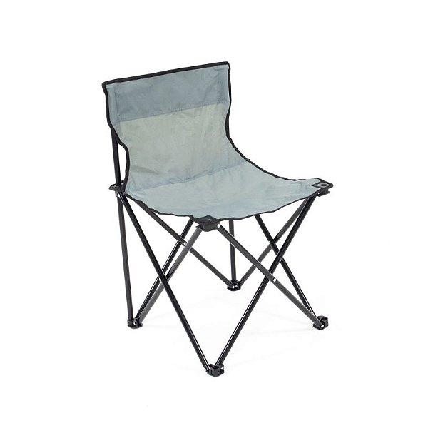 Cadeira de Praia e Camping Araguaia Premium Cinza Com Bolsa