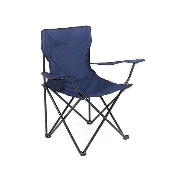 Cadeira de Praia e Camping Conforto Azul Marinho Com Bolsa