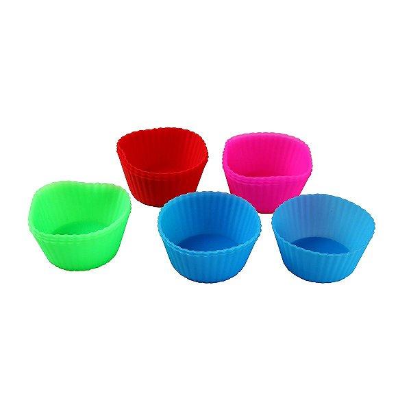 Formas  de Cup Cake Silicone 6 Peças