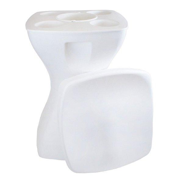 Mesa Banqueta Multiúso Plastable Completa Branca