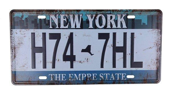 Placa Decorativa Carro Americana New York