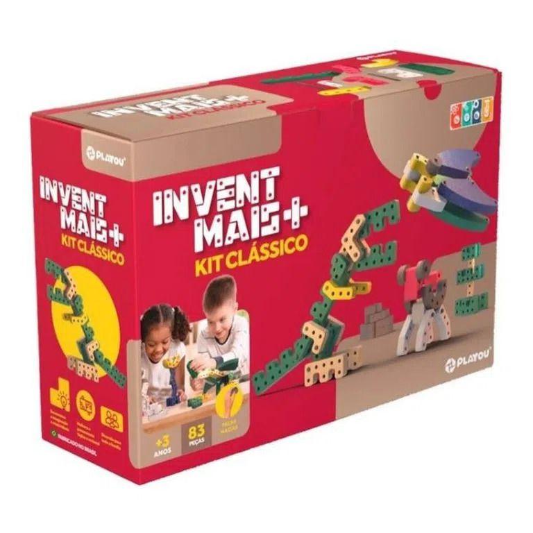 Brinquedo de montar Playou Invent Mais Kit Clássico 83 peças