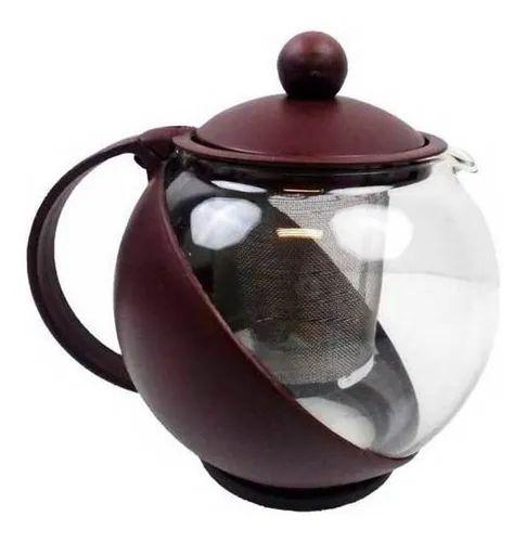 Chaleira De Vidro Com Infusor Interno 1,25l Para Chá E Café