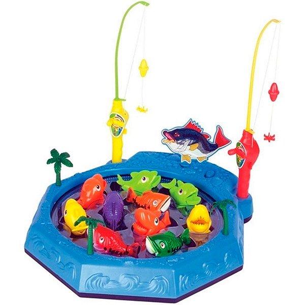 Jogo de Pescaria Infantil  Azul