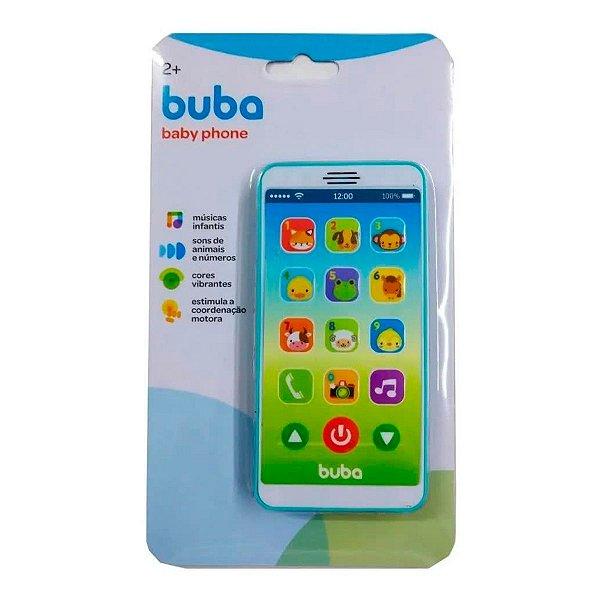 Celular Infantil Buba Baby Phone Musical Azul