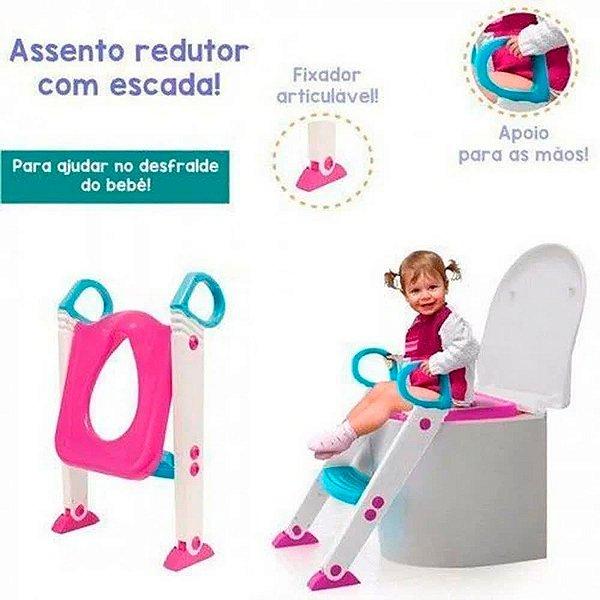 Redutor de Assento com Escada Buba Rosa Baby