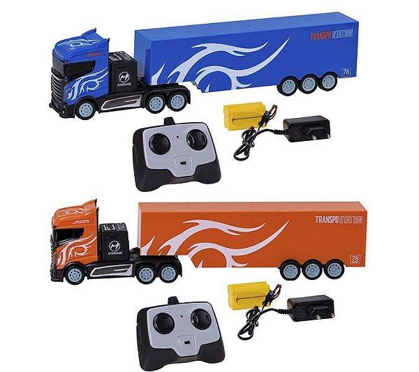 Caminhão de Controle Recarregável Remoto Com Caçamba