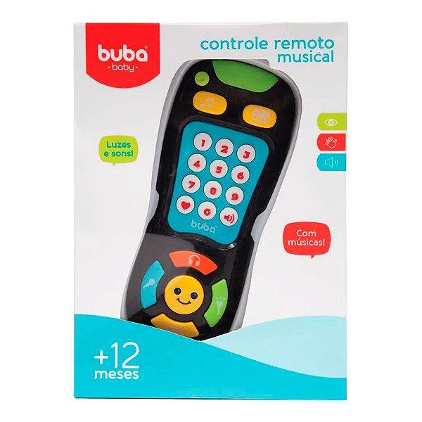 Brinquedo Controle Remoto Preto Infantil Musical Buba