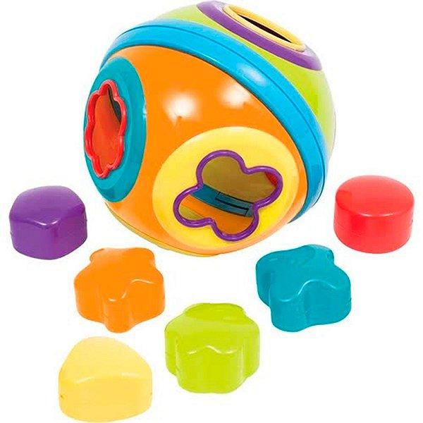 Brinquedo Infantil Bola De Formas E Encaixe Baby Buba