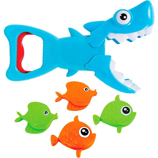 Jogo Tubarão Mecânico Pega Peixinhos Buba