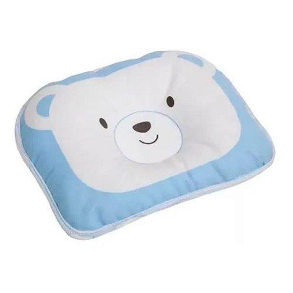 Travesseiro Anatômico Para Bebe Recém-nascido Urso Azul
