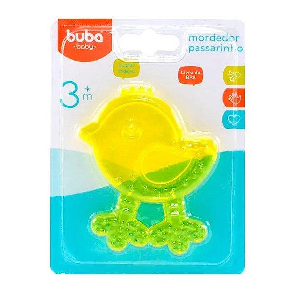 Mordedor De Água Passarinho Buba Baby Amarelo