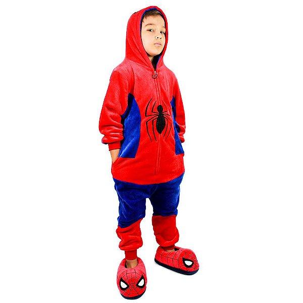 Macacão Kigurumi Infantil 3 A 4 Anos Spiderman