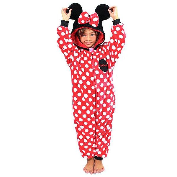 Macacão Kigurumi Infantil 3 A 4 Anos Minnie
