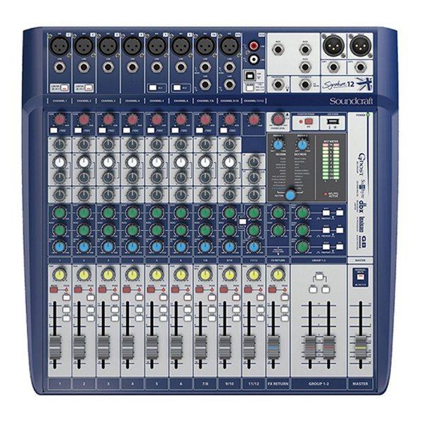 Mesa De Som Soundcraft Signature 12 Canais