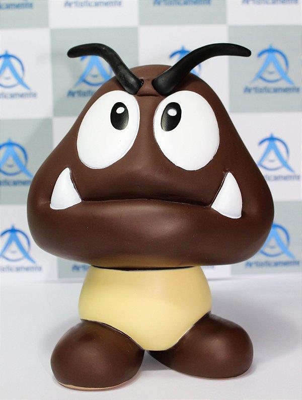 Bonecos Super Mario - Goomba, Toad, Princesa Peaches e Yoshi