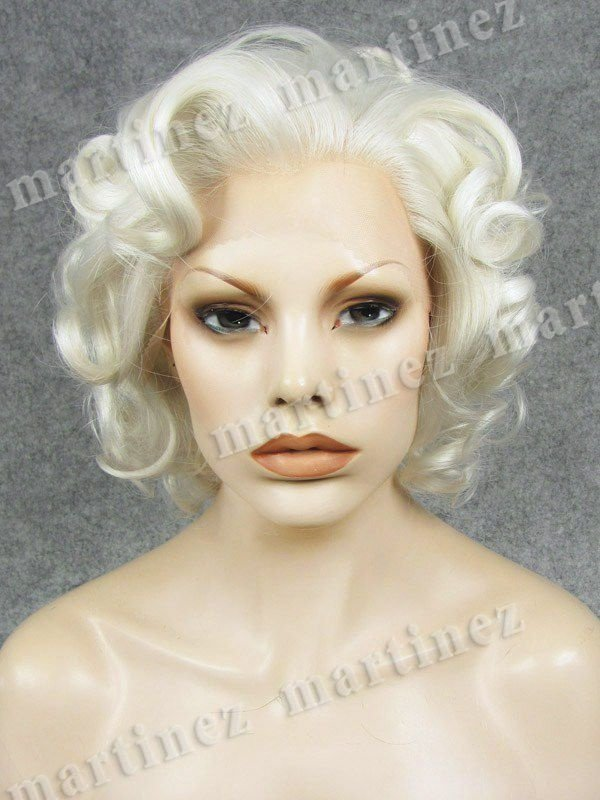 Sintético Lace Front Marilyn Monroe Platinada