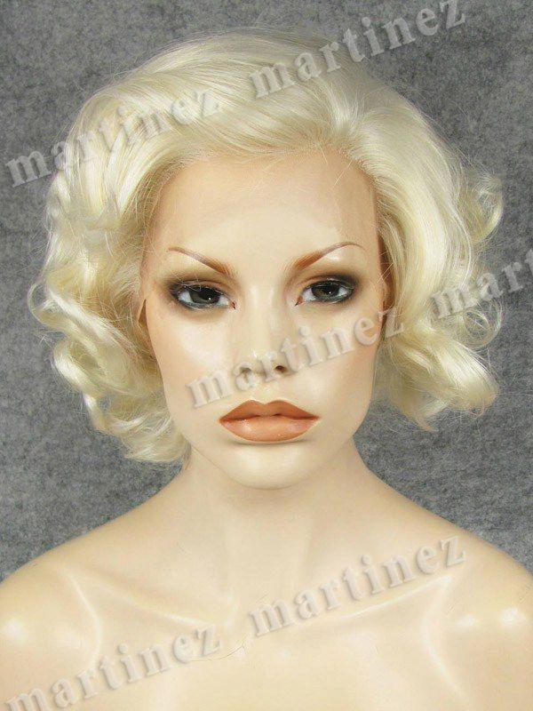 Sintético Lace Front Marilyn Monroe Loiro Platinado
