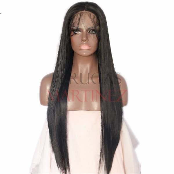 Lace Front Melissa Baby Hair Preto Liso