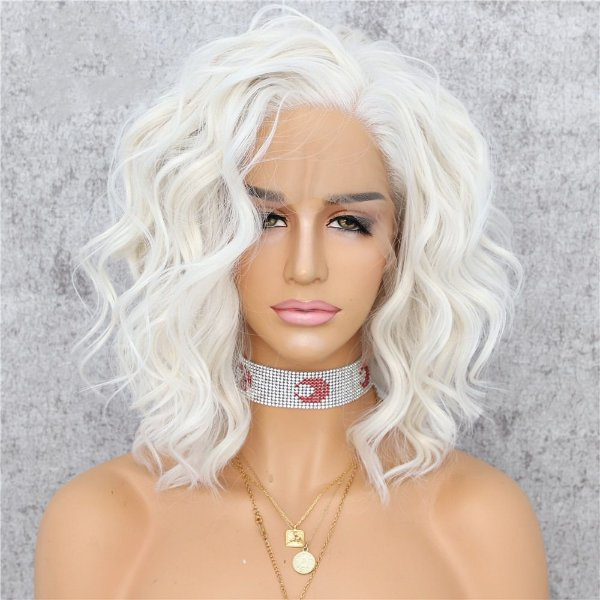 LACE FRONT MARILYN MONROE PLATINADA