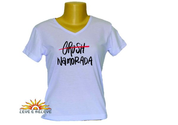 Camiseta Babylook namorada, noiva, esposa