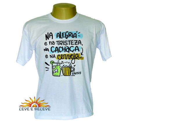 Camiseta na cachaça e na cerveja