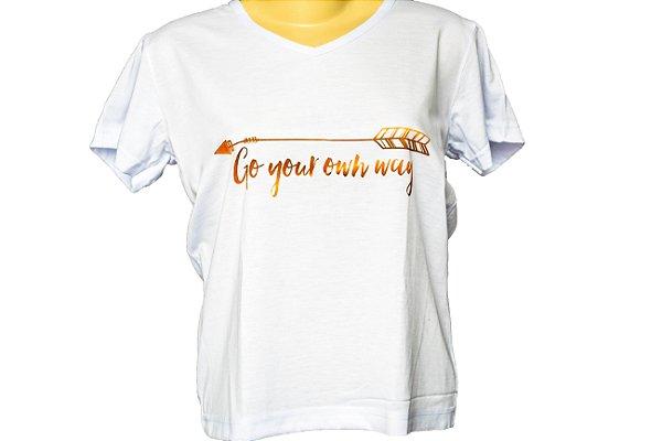 Camiseta baby look siga seu proprio caminho
