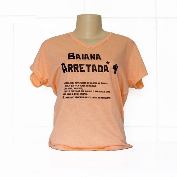 Camiseta baby look baiana arretada