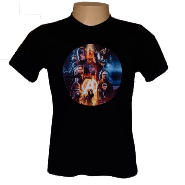 Camiseta masculina em algodão Vingadores Ultimate